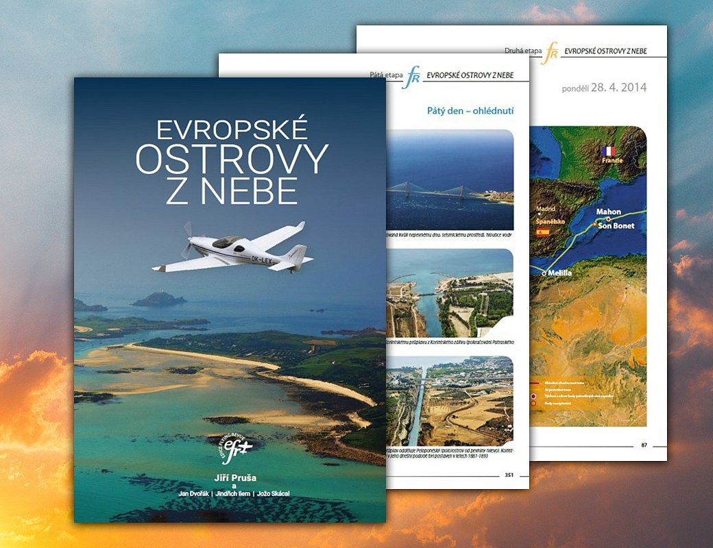 Kniha Evropské ostrovy z nebe