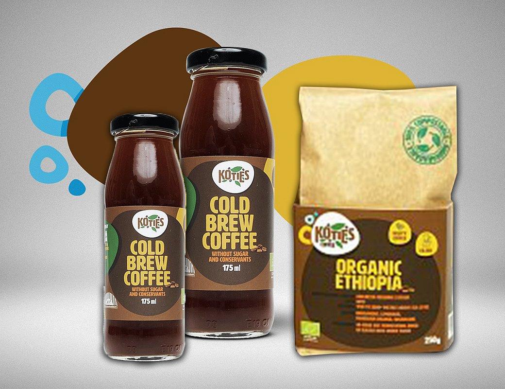 Balení malého kávového osvěžení
